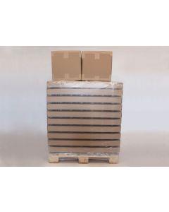 Glas 225 gr/196 ml hexagonal inkl. forskellige låg - 3410 stk