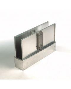 Fejefix i rusfrit stål/aluminium