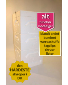 Tappernøje stade 3 magasiner hvid norsk