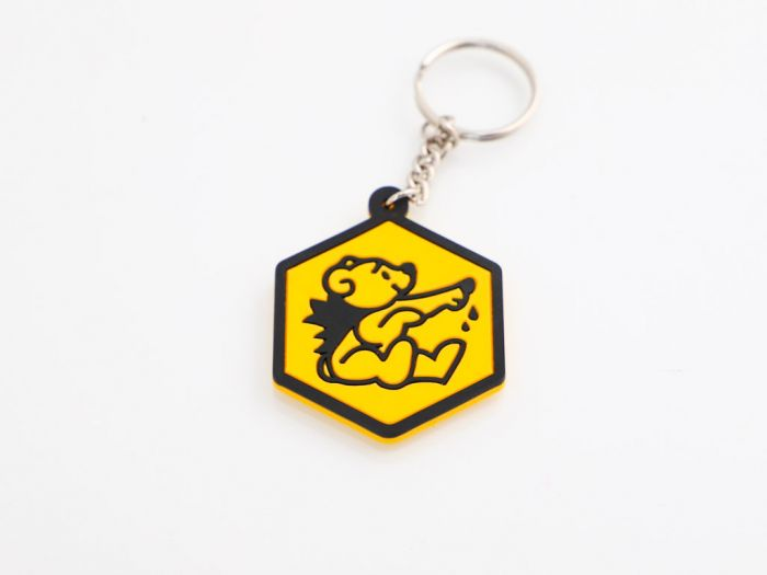 Nøglering med glad honningbjørn