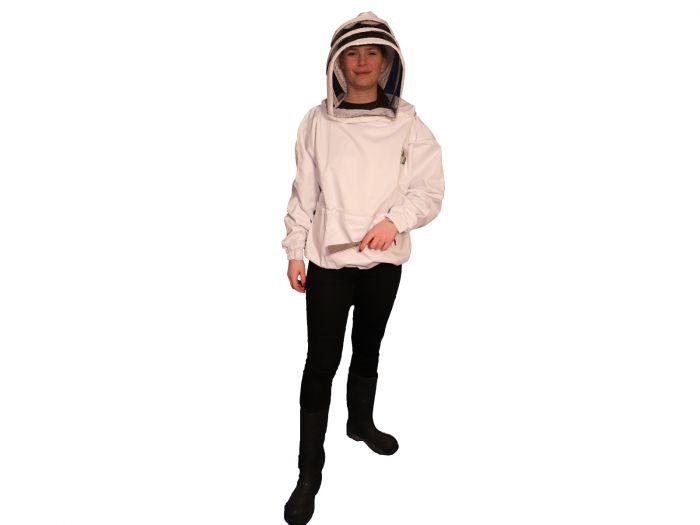 Hvid anorak med hat fra Nordic Beekeeping