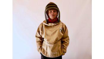 Grøn anorak med hat fra Nordic Beekeeping
