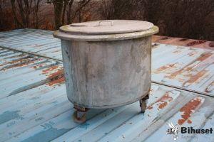 Brugt Rustfrit Kar På Hjul
