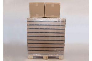 Rundt glas 240 gr. inkl forskellige låg - palle med 2570 stk