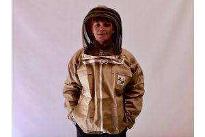 Grøn jakke med hat fra Nordic Beekeeping