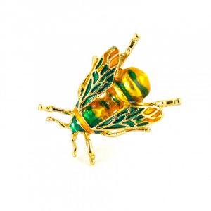 Grøn bi broche