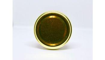 Metallåg til glas 66mm guld/sort/hvid