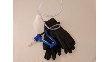 Doseringssprøjte m/handsker og beholder