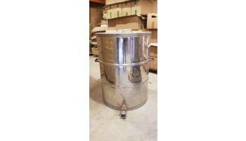 300 kg CMF rustfri beholder med kuglehane