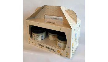 Gaveæske til honning - 2 eller 3 glas